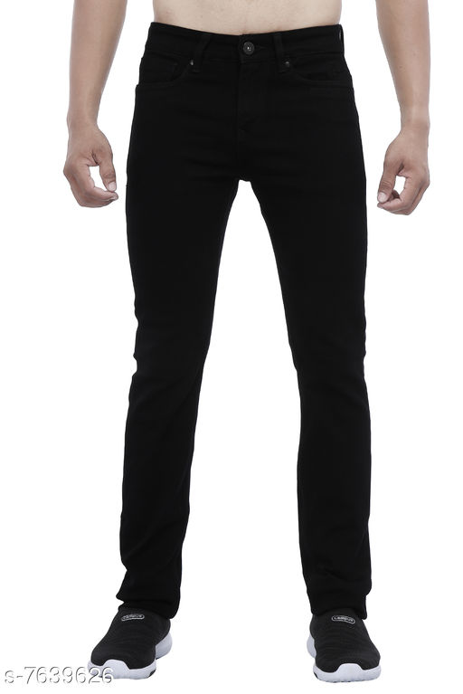 Jeans Black Men Jeans  *Fabric* Denim  *Sizes*   *30 (Waist Size* 30 in, Length Size  *Sizes Available* 30 *    Catalog Name: Stylish Fashionista Men Jeans CatalogID_1239380 C69-SC1211 Code: 2421-7639626-