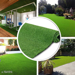 Natural Looking Dense Artificial Grass Carpet Mat for Balcony, Lawn, Terrace (6.5Feet X 5Feet)