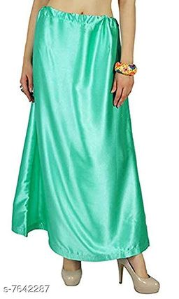 Trendy Satin Solid Women's Petticoats