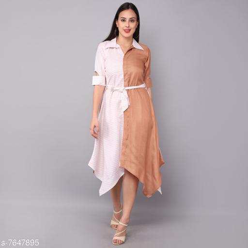 Women's Self-Design Multicolor Satin Dress