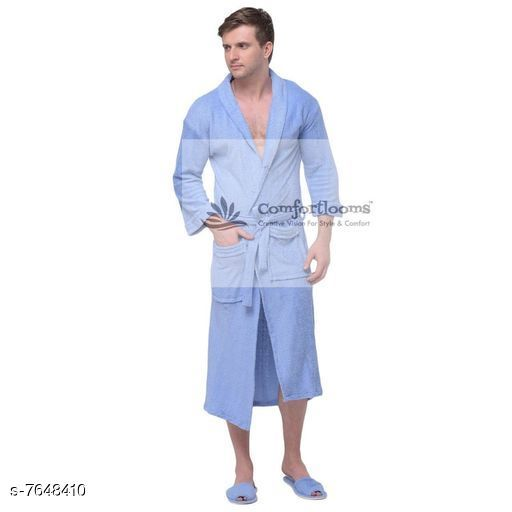 Mens Bathrobe With Slippers