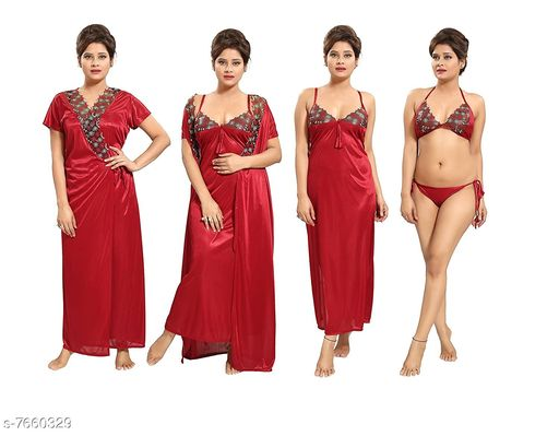Women's Lace Satin Babydoll