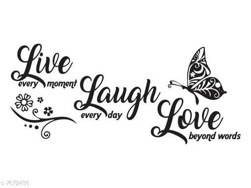 DivineDesigns Live Laugh Love Wall Sticker