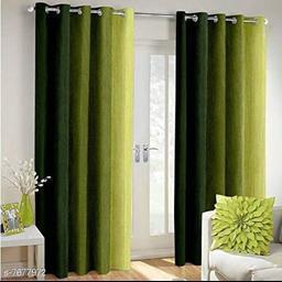 3D Attractive Plain Crush Door Curtain -7Ft- 1 Pc