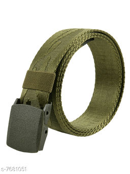 Winsome Deal Trendy Canvas Green Army Belt for Men's