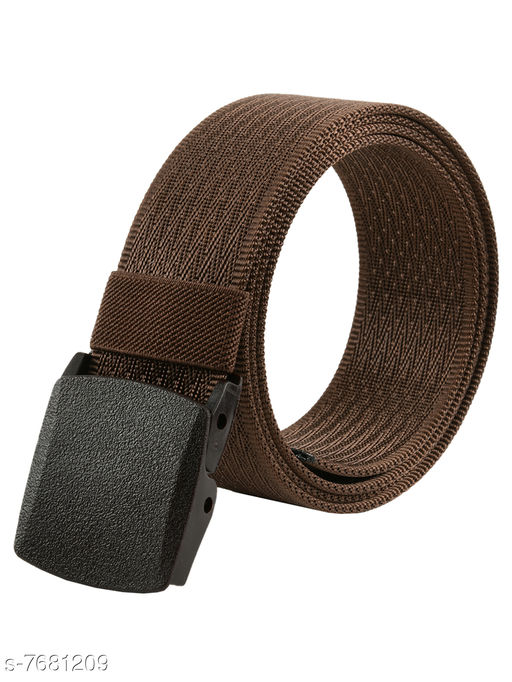 Winsome Deal Trendy Canvas Brown Army Belt for Men's