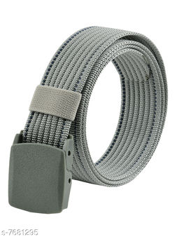 Winsome Deal Trendy Canvas Silver Army Belt for Men's