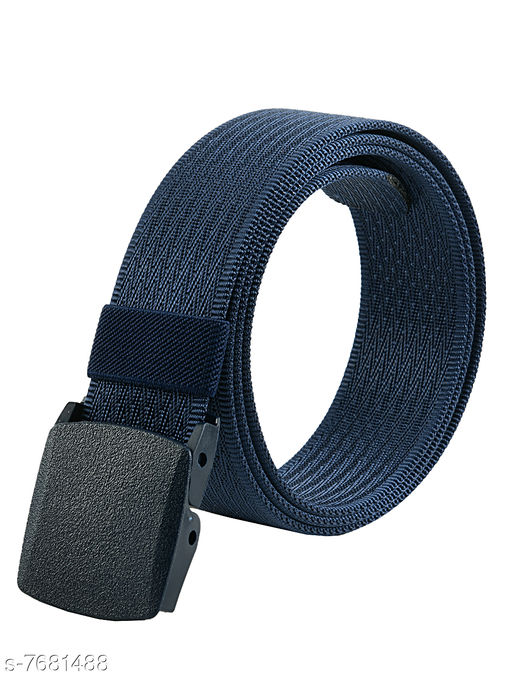 Winsome Deal Trendy Canvas Blue Army Belt for Men's