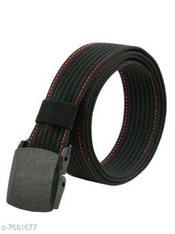 Winsome Deal Trendy Canvas Black Army Belt for Men's