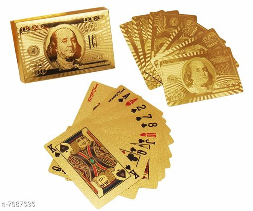 Sports Accessories Rainbow Gold Plated Poker Playing Cards (Golden) Rainbow Gold Plated Poker Playing Cards (Golden)  *Sizes Available* Free Size *    Catalog Name: Rainbow CatalogID_1249757 C81-SC1287 Code: 423-7687535-993