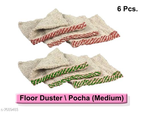 Napkins & Holders Floor Cleaning Cloth (Pocha) (set of 6pcs) Floor Cleaning Cloth (Pocha) (set of 6pcs) Country of Origin: India Sizes Available: Free Size *Proof of Safe Delivery! Click to know on Safety Standards of Delivery Partners- https://ltl.sh/y_nZrAV3  Catalog Rating: ★4.4 (37)  Catalog Name: Fabulous Kitchen Napkins CatalogID_1250177 C129-SC1426 Code: 091-7689483-
