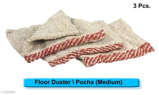 Napkins & Holders Floor Cleaning Cloth (Pocha) (set of 2pcs.) Floor Cleaning Cloth (Pocha) (set of 2pcs.) Country of Origin: India Sizes Available: Free Size *Proof of Safe Delivery! Click to know on Safety Standards of Delivery Partners- https://ltl.sh/y_nZrAV3  Catalog Rating: ★4.4 (37)  Catalog Name: Fabulous Kitchen Napkins CatalogID_1250177 C129-SC1426 Code: 231-7689486-