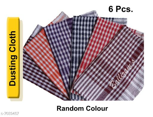 Napkins & Holders Duster Cloth for Kitchen and Home (set of 6pcs.) Duster Cloth for Kitchen and Home (set of 6pcs.) Country of Origin: India Sizes Available: Free Size *Proof of Safe Delivery! Click to know on Safety Standards of Delivery Partners- https://ltl.sh/y_nZrAV3  Catalog Rating: ★4.4 (37)  Catalog Name: Fabulous Kitchen Napkins CatalogID_1250177 C129-SC1426 Code: 941-7689487-