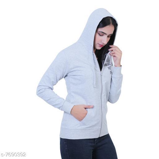 Women Fleece Zipper Hoodie Sweatshirt