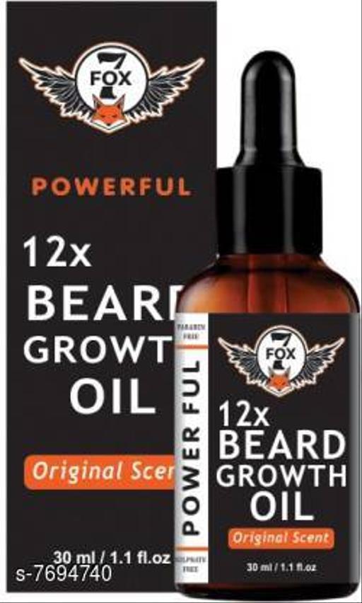 7 FOX 12X Powerful Bard Oil For Fast Growth. strong and healthy beard growth-30ml Hair Oil (30 ml)