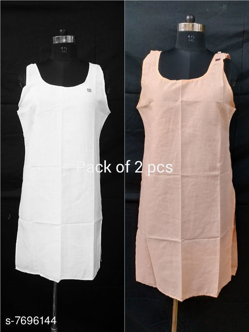 Women Pack of 2 White Cotton Camisoles