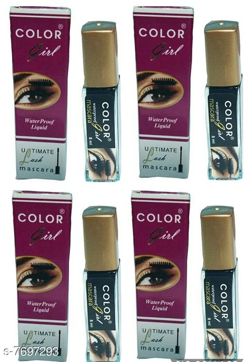 Eyes COLOR GIRL WATERPROOF LIQUID MASCARA  *Product Name* COLOR GIRL WATERPROOF LIQUID MASCARA  *Brand Name* COLOR GIRL  *Type* Waterproof  *Multipack* 4 COLOR GIRL MASCARA IS VERY HANDY TO USE AND REMOVE.HIGH QUALITY COMPONENTS USED IN MAKING OF THIS PRODUCT  *Sizes Available* Free Size *    Catalog Name: COLOR GIRL Proffesional Collection Mascara CatalogID_1252023 C51-SC1242 Code: 564-7697293-697