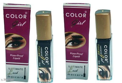 Eyes COLOR GIRL WATERPROOF LIQUID MASCARA  *Product Name* COLOR GIRL WATERPROOF LIQUID MASCARA  *Brand Name* COLOR GIRL  *Type* Waterproof  *Multipack* 2 COLOR GIRL MASCARA IS VERY HANDY TO USE AND REMOVE.HIGH QUALITY COMPONENTS USED IN MAKING OF THIS PRODUCT  *Sizes Available* Free Size *    Catalog Name: COLOR GIRL Proffesional Collection Mascara CatalogID_1252023 C51-SC1242 Code: 613-7697297-893