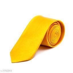 Pihu Solid Satin Tie Yellow