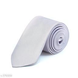 Pihu Solid Satin Tie White