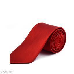 Pihu Solid Satin Tie Red