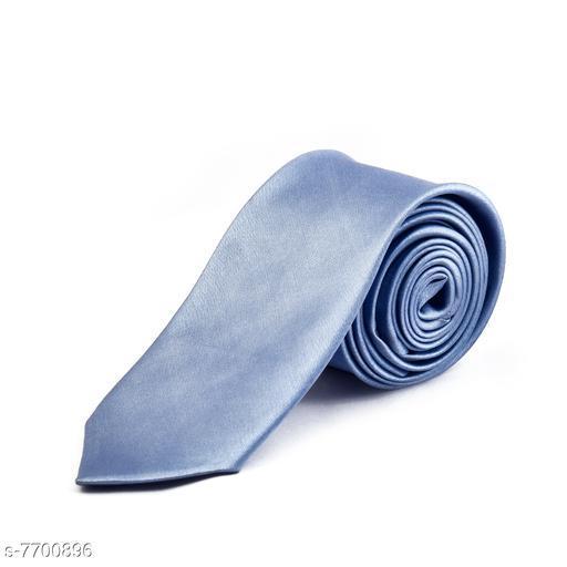 Pihu Solid Satin Tie Silver