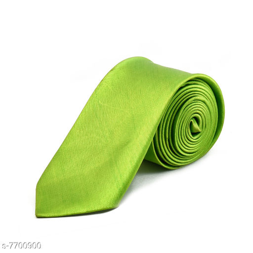 Pihu Solid Satin Tie Green
