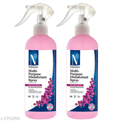 NutriGlow NATURAL'S Pack Of 2 Multi-Purpose ( Advanced Organics)/ Disinfectant Spray For Hard & Soft Surfaces|spray for everyday home hygiene|instant Germ Protection  (500 ml)