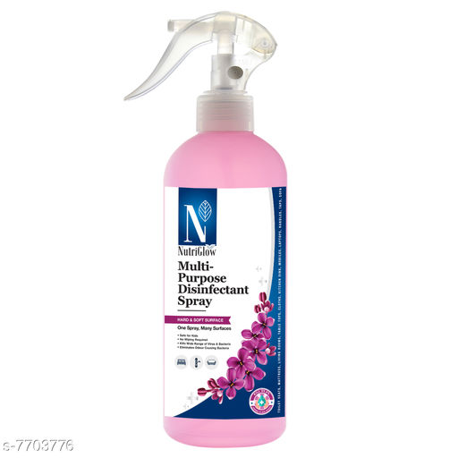 NutriGlow NATURAL'S Multi-Purpose (Advanced Organics) Disinfectant Liquid Spray For Home Hygiene|Protect illness causes germs|Refreshing Fragrance|Lavender  (500 ml)