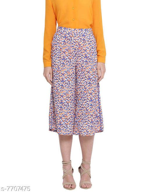 Lambarda Floral Woman Digital Print Culotte