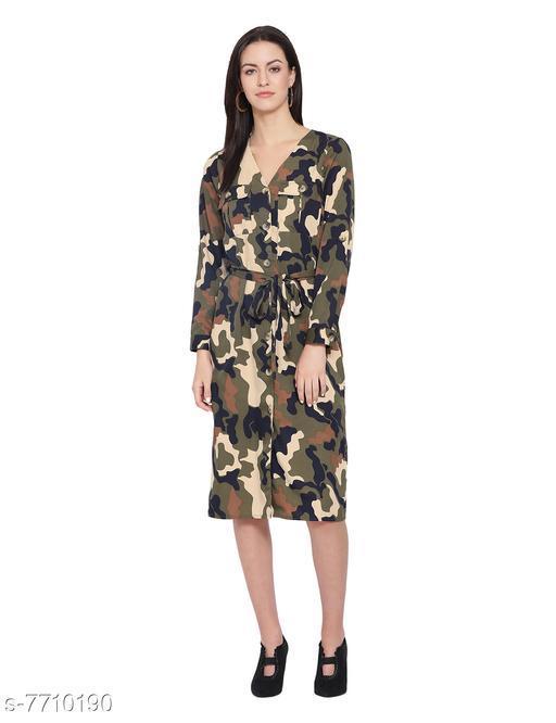 Camo Sensation Women's Midi Dress
