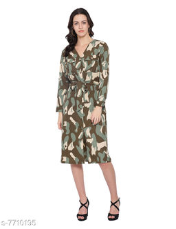 Cosmo Army Women's Midi Dress