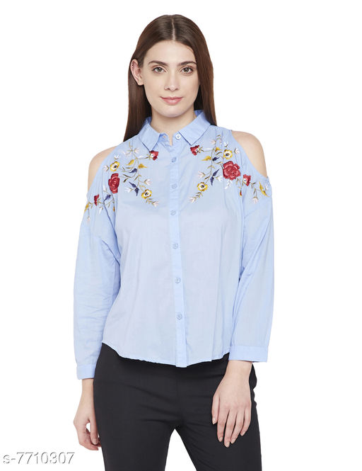 Serenity Neo Floral Embro Shirt