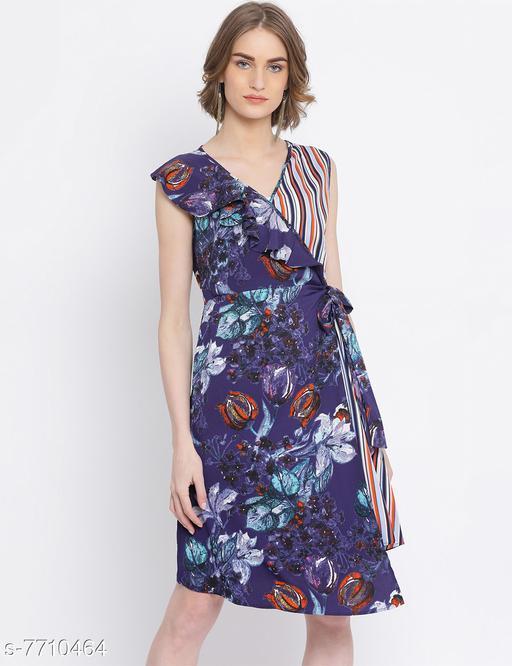 Floral Glamour Hi-Lo Skater Dress