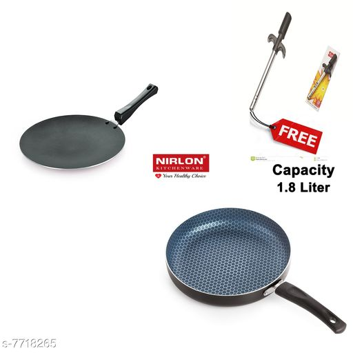 Nirlon Concave tawa and Honey comb pan with Free lighter