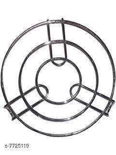 KitchenFest® Heavy Hot Pot Stand | Round Steaming Tray Stand | Stainless Steel Round Cooker Steamer Rack Stand
