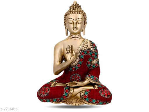 DivineDesigns Gowtham Buddh Wall Sticker ( Size :- 48 X 61 cm )