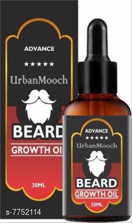 Hair Care UrbanMooch Advanced Beard Growth Oil for Strong and healthy beard growth & Patchy- Hair Oil (30 ml)  *Product Name* UrbanMooch Advanced Beard Growth Oil for Strong and healthy beard growth & Patchy- Hair Oil (30 ml)  *Multipack* 1  *Sizes Available* Free Size *    Catalog Name:  Advanced Relief Beard Oil & Wax CatalogID_1263781 C50-SC1249 Code: 991-7752114-