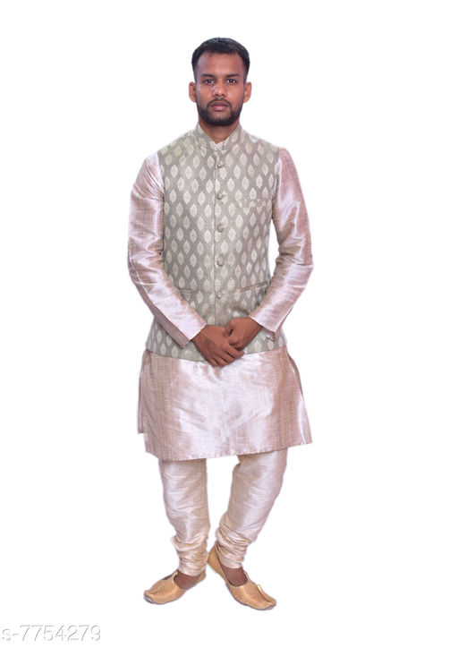 Kurta Sets MAG Men's Double Tone Matching Kurta Churidar With Mint Cream  Waistcoat  *Sizes*  Free Size  *Sizes Available* Free Size *    Catalog Name: Modern Men Kurta Sets CatalogID_1264304 C66-SC1201 Code: 4151-7754279-