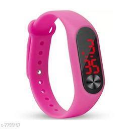 M2-Pink Fancy LED Digital Kids Watch