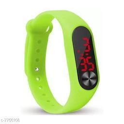 M2-Green Fancy LED Digital Kids Watch