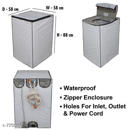 Star Weaves Fully Automatic Top Load Washing Machine Cover - Waterproof & Dustproof Cover White Color