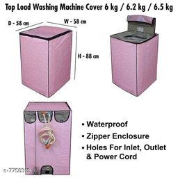 Star Weaves Fully Automatic Top Load Washing Machine Cover - Waterproof & Dustproof Cover Light Pink Color
