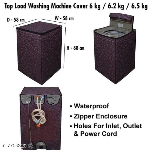 Star Weaves Fully Automatic Top Load Washing Machine Cover - Waterproof & Dustproof Cover Brown Color