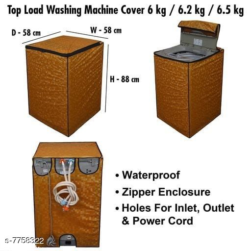 Star Weaves Fully Automatic Top Load Washing Machine Cover - Waterproof & Dustproof Cover Golden Color