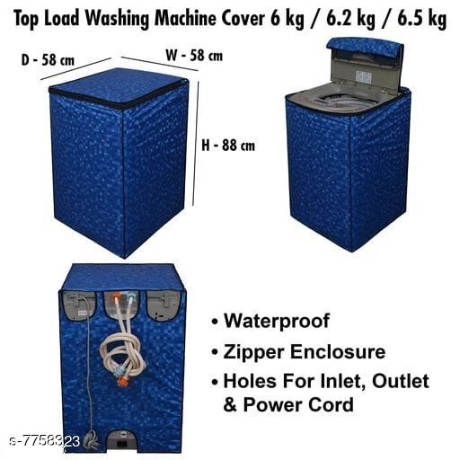 Star Weaves Fully Automatic Top Load Washing Machine Cover - Waterproof & Dustproof Cover Dark Blue Color