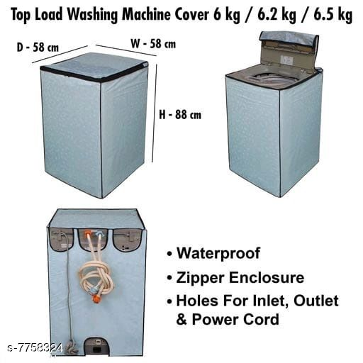 Star Weaves Fully Automatic Top Load Washing Machine Cover - Waterproof & Dustproof Cover Light Blue Color