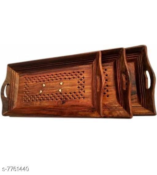 Other wooden  tray set  *Sizes*  Free Size  *Sizes Available* Free Size *   Catalog Rating: ★3.2 (5)  Catalog Name: Modern Trays CatalogID_1266044 C107-SC1806 Code: 395-7761440-