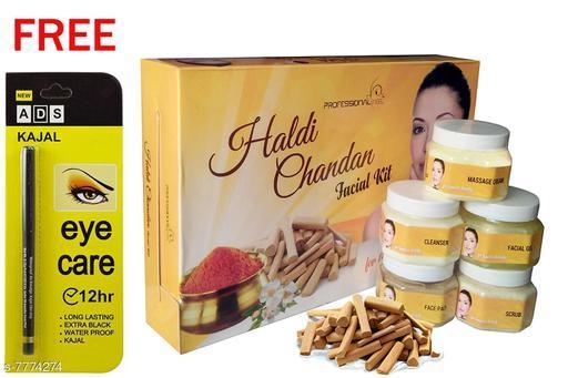 Professional Feel Haldi Chandan FacialKit (250g) Free Ads Kajal (Pack Of 2)