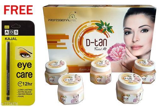 Professional Feel D Tan FacialKit (250g) Free Ads Kajal (Pack Of 2)